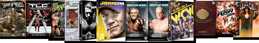 Wrestling DVDs und Co